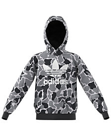 adidas Big Boys Camo Fleece Hoodie