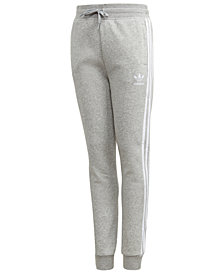 adidas Big Boys Tri-Stripe Fleece Pants