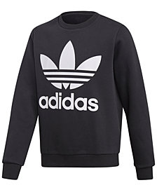 adidas Big Boys Logo Graphic Sweatshirt