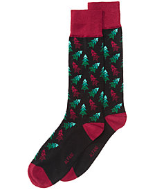 AlfaTech by Alfani Men's Tree Socks, Created for Macy's