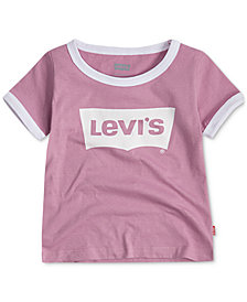 Levi's® Little Girls Retro Ringer Cotton T-Shirt