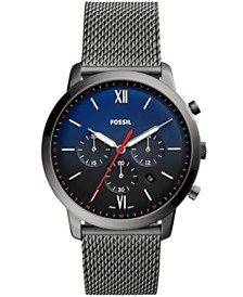 Fossil Men's Neutra Chronograph Smoke Stainless Steel Bracelet Watch 44mm