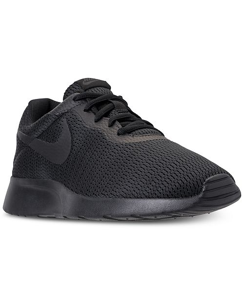 huge discount 9a0a8 5514d ... Nike Men s Tanjun Wide Width Casual Sneakers from Finish ...