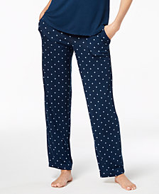 Alfani Knit Star-Print Pajama Pant, Created for Macy's