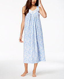 Charter Club Long Lace-Trim Nightgown, Created for Macy's