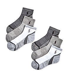 Polo Ralph Lauren Little & Big Boys 6-Pack Marled Quarter-Length Socks