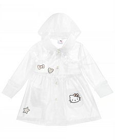 Hello Kitty Toddler Girls Embroidered Patch Raincoat
