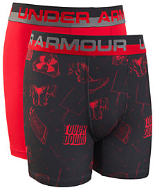 Under Armour Big Boys 2-Pack Performance Boxers