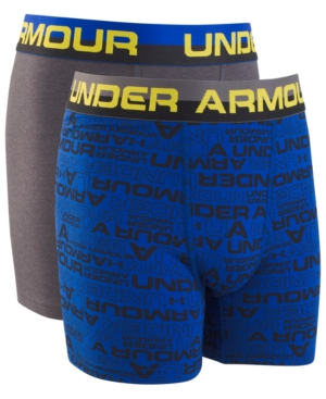Under Armour Big Boys 2Pack Charged Cotton Boxer Briefs