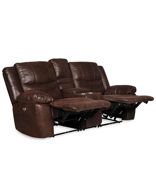 Chelsea Home Furniture Liam Manual Reclining Loveseat With Console