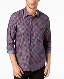 Tasso Elba Men's Chambray Medallion Shirt, Created for Macy's