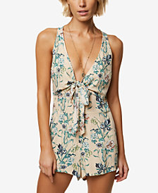 O'Neill Juniors' Veda Plunging Printed Romper