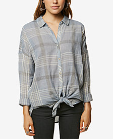 O'Neill Juniors' Arlow Cotton Plaid Button-Up Shirt