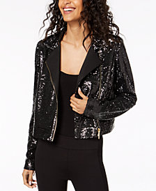 Rachel Zoe Cassie Sequined Moto Jacket