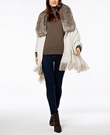 Lauren Ralph Lauren Reversible Faux-Fur Collar Poncho