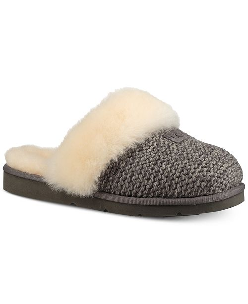 eb09006180 UGG® Women s Cozy Knit Slippers   Reviews - Slippers - Shoes - Macy s