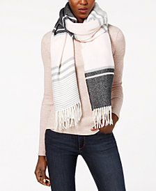 Calvin Klein Striped Blanket Scarf
