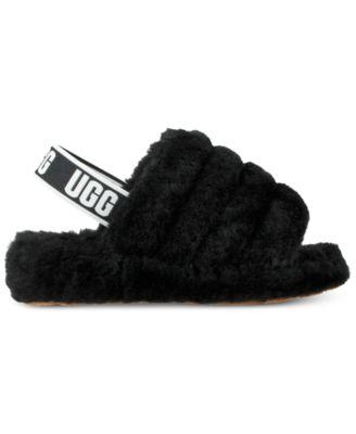 ugg furry slides