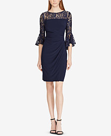 Lauren Ralph Lauren Petite Lace-Trim Dress