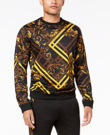 Versace Men's Baroque-Check Sweatshirt