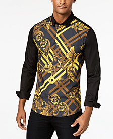 Versace Men's Front-Printed Shirt