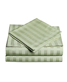 Dobby Stripe 4-Pc Full Sheet Set