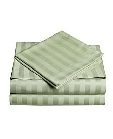 Dobby Stripe 3-Pc Twin Sheet Set