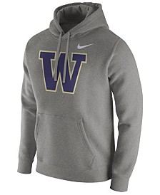 Nike Men's Washington Huskies Cotton Club Fleece Hooded Sweatshirt