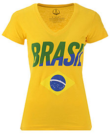 Fifth Sun Women's Brazil National Team Gym Wedge World Cup T-Shirt