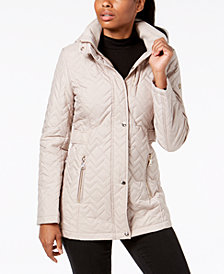 Calvin Klein Hooded Quilted Puffer Coat