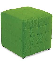 Feliu Fabric Cube Ottoman, Quick Ship