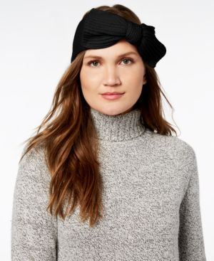 Bow Knit Headband - Black