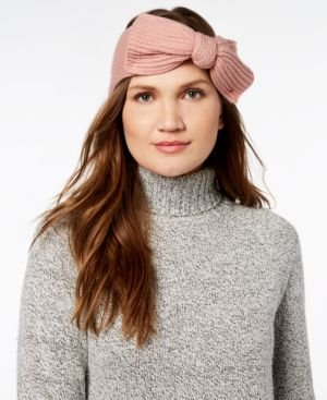 Bow Knit Headband - Ivory, Cream