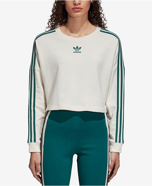 4ce98909 adidas Adibreak Cropped French Terry Sweatshirt & Reviews - Tops ...