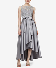 SL Fashions Embroidered High-Low Gown