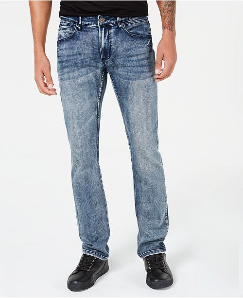 INC International Concepts INC Stretch Slim Straight Jeans, Created for Macy's