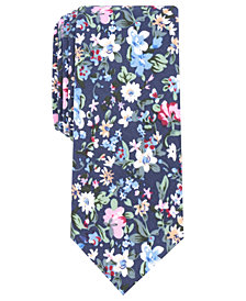 Bar III Men's Tulum Floral Skinny Tie, Created for Macy's
