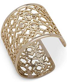 Ivanka Trump Gold-Tone Openwork Wide Cuff Bracelet