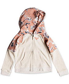 Roxy Little Girls Printed Zip-Up Hoodie