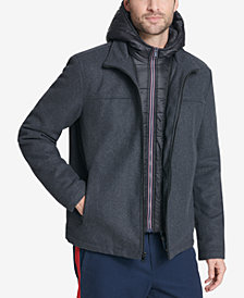 Tommy Hilfiger Men's Full-Zip Hooded Wool Jacket, Created for Macy's
