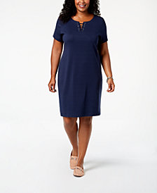 Karen Scott Plus Size Sheath Dress, Created for Macy's