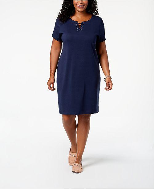 Karen Scott Plus Size Sheath Dress, Created for Macy\'s & Reviews ...