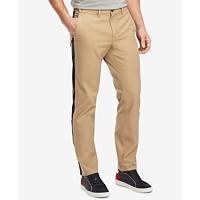 Tommy Hilfiger Men's Side Stripe Chino Pants ( Vintage Khaki)