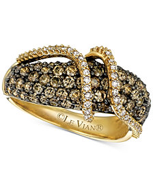 Le Vian Chocolatier® Diamond Crossover Ring (1-5/8 ct. t.w.) in 14k Gold
