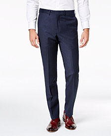 DKNY Men's Modern-Fit Navy Pinstripe Suit Pants