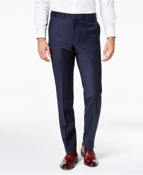 7d10a56245 DKNY Men s Modern-Fit Navy Pinstripe Suit Pants   Reviews - Pants ...