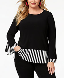 I.N.C. Plus Size Layered-Look Top, Created for Macy's