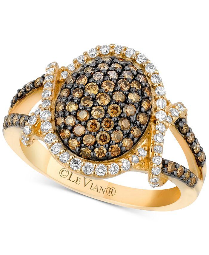 Le Vian - Diamond Oval Cluster Ring (1 ct. t.w.) in 14k Gold