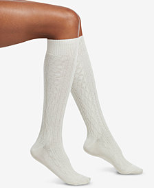 HUE® Supersoft Cable Knee-High Socks