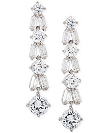 Giani Bernini Cubic Zirconia Linear Drop Earrings in Sterling Silver, Created for Macy's